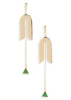 kate spade new york modern icon linear earrings