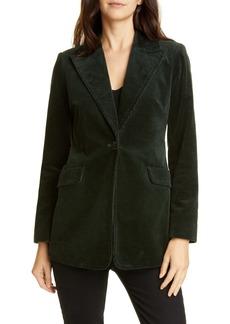 kate spade new york modern stretch cotton corduroy blazer