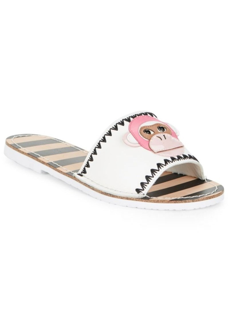 4116e6700f84 On Sale today! Kate Spade Kate Spade New York Monkey Face Leather Slides