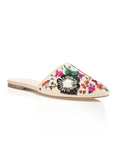 kate spade new york Monteclair Embroidered Mules