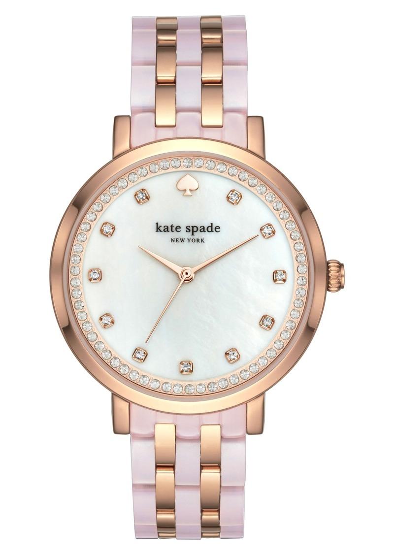 New York Monterey Crystal Dial Bracelet Watch 38mm