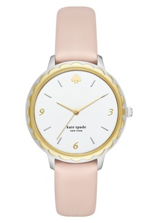 kate spade new york morningside leather strap watch, 38mm