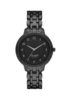 Kate Spade New York Morningside Scallop 3-Hand Black Stainless Steel Bracelet Watch