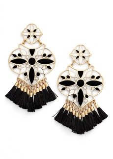 kate spade new york moroccan tile chandelier earrings