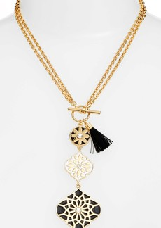 kate spade new york moroccan tile pendant necklace