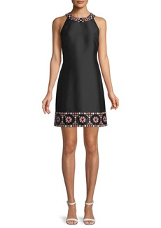 kate spade new york mosaic embellished shift dress