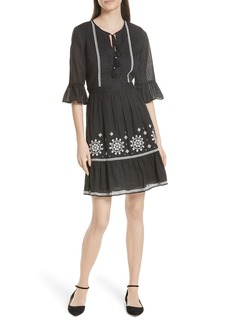 kate spade new york mosaic embroidered dress