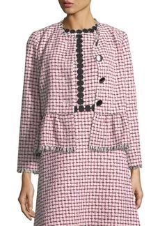 Kate Spade multi tweed peplum jacket