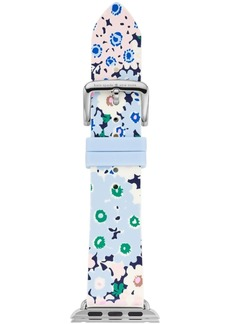 kate spade new york Women's Multicolored Floral Silicone Apple Watch Strap