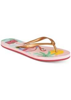 kate spade new york Nassau Flamingo Flip-Flop Sandals