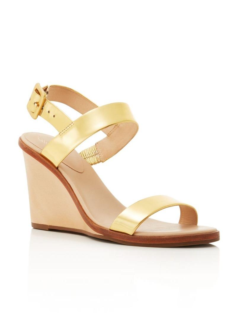 kate spade new york Nice Metallic Wedge Sandals