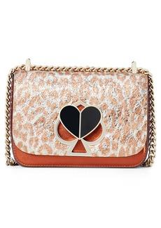 kate spade new york nicola leopard print leather shoulder bag
