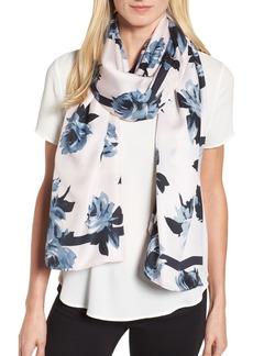 kate spade new york night rose silk oblong scarf