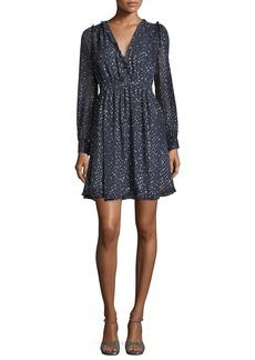 Kate Spade night sky surplice neckline lurex® dot mini cocktail dress