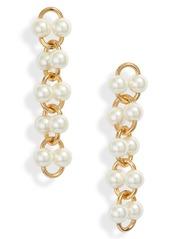 kate spade new york nouveau pearls imitation pearl linear earrings