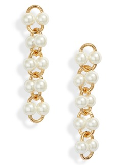 kate spade new york nouveau pearls imitation pearl linear earrings