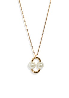 kate spade new york nouveau pearls imitation pearl pendant necklace