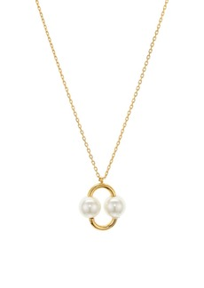 kate spade new york Nouveau Simulated Pearl Pendant Necklace, 16""