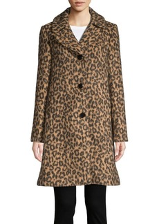 Kate Spade New York Novelty Leopard Walker Trench Coat