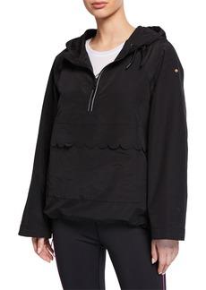 kate spade new york nylon scallop anorak jacket