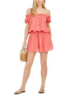 Kate Spade New York Off-TheShoulder Romper Swim Cover-Up Women's Swimsuit