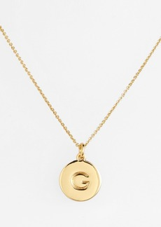 kate spade new york 'one in a million' initial pendant necklace