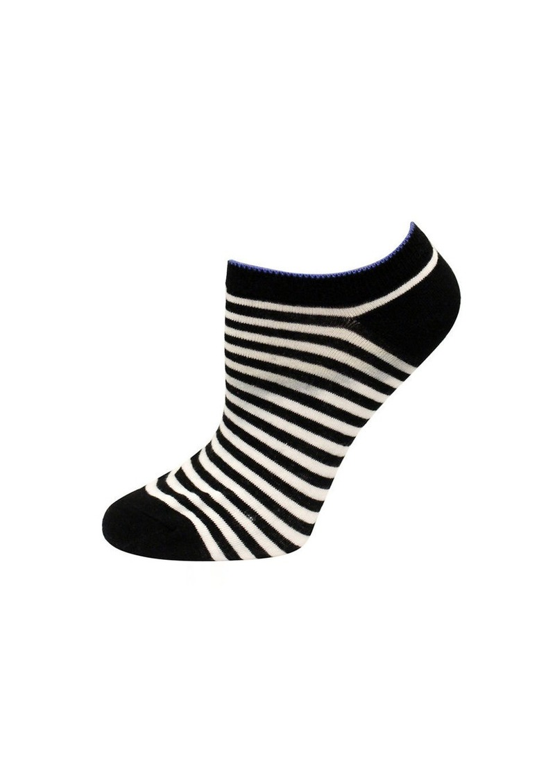 KATE SPADE NEW YORK One-Pack Striped No Show Socks