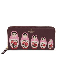 kate spade new york ooh la la stacking doll leather wallet