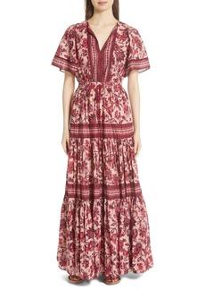 kate spade new york paisley blossom maxi dress