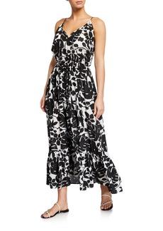 kate spade new york palm coverup maxi dress