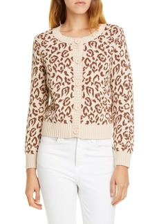 kate spade new york panther intarsia cardigan