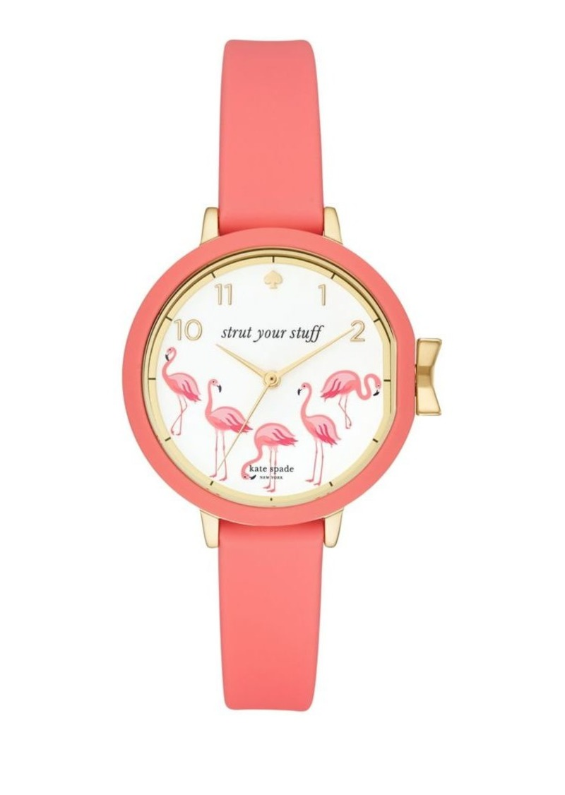 Kate Spade New York Park Row Leather-Strap Watch