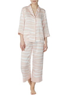 kate spade new york pastel zebra crop pajamas
