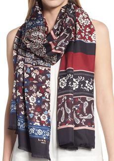 kate spade new york patchwork silk scarf