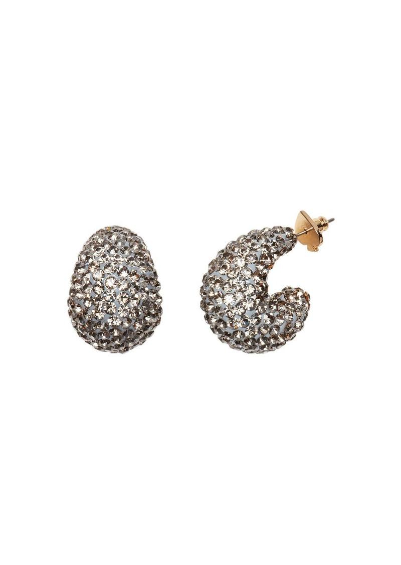 kate spade new york Pav� Huggie Hoop Earrings