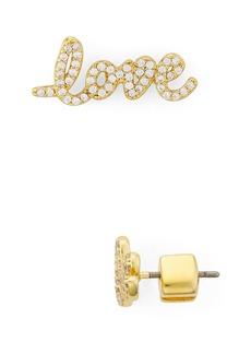 kate spade new york Pav� Love Earrings