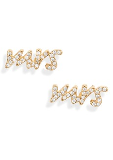 3cb947fc003d3 kate spade new york pavé mrs. stud earrings