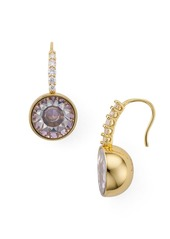 kate spade new york Pav� Round Drop Earrings
