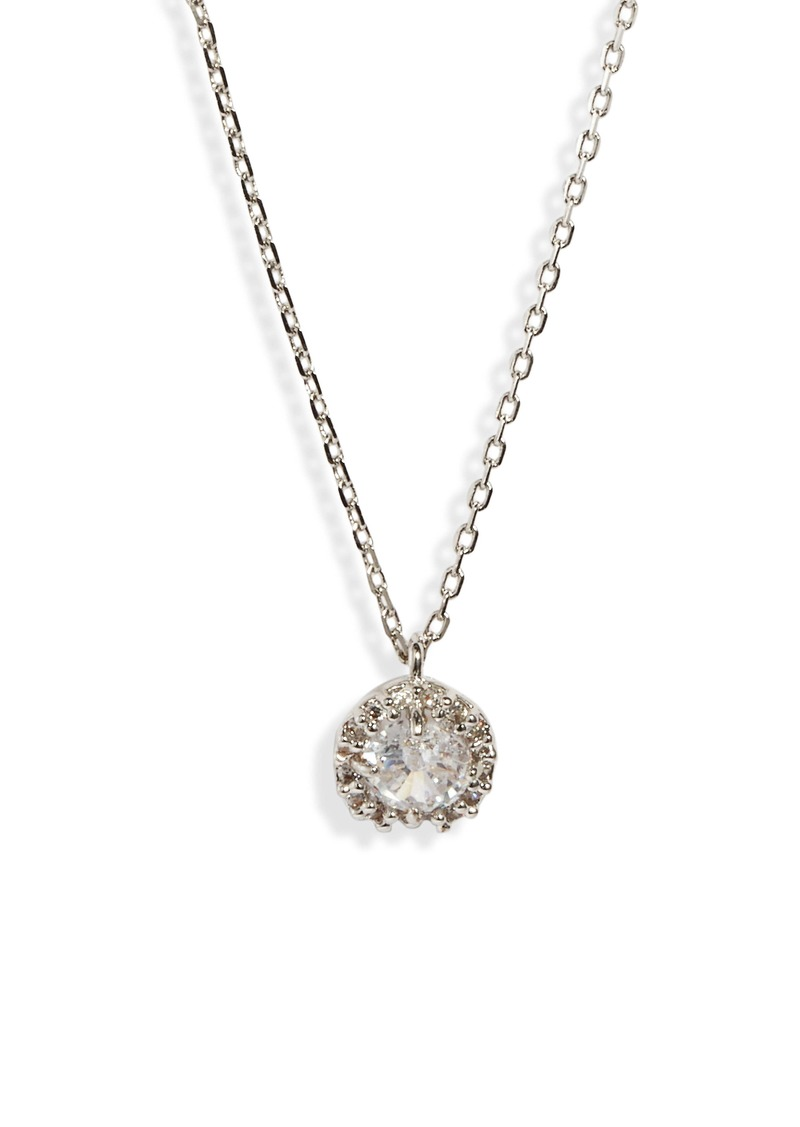 kate spade new york pavé round mini pendant necklace