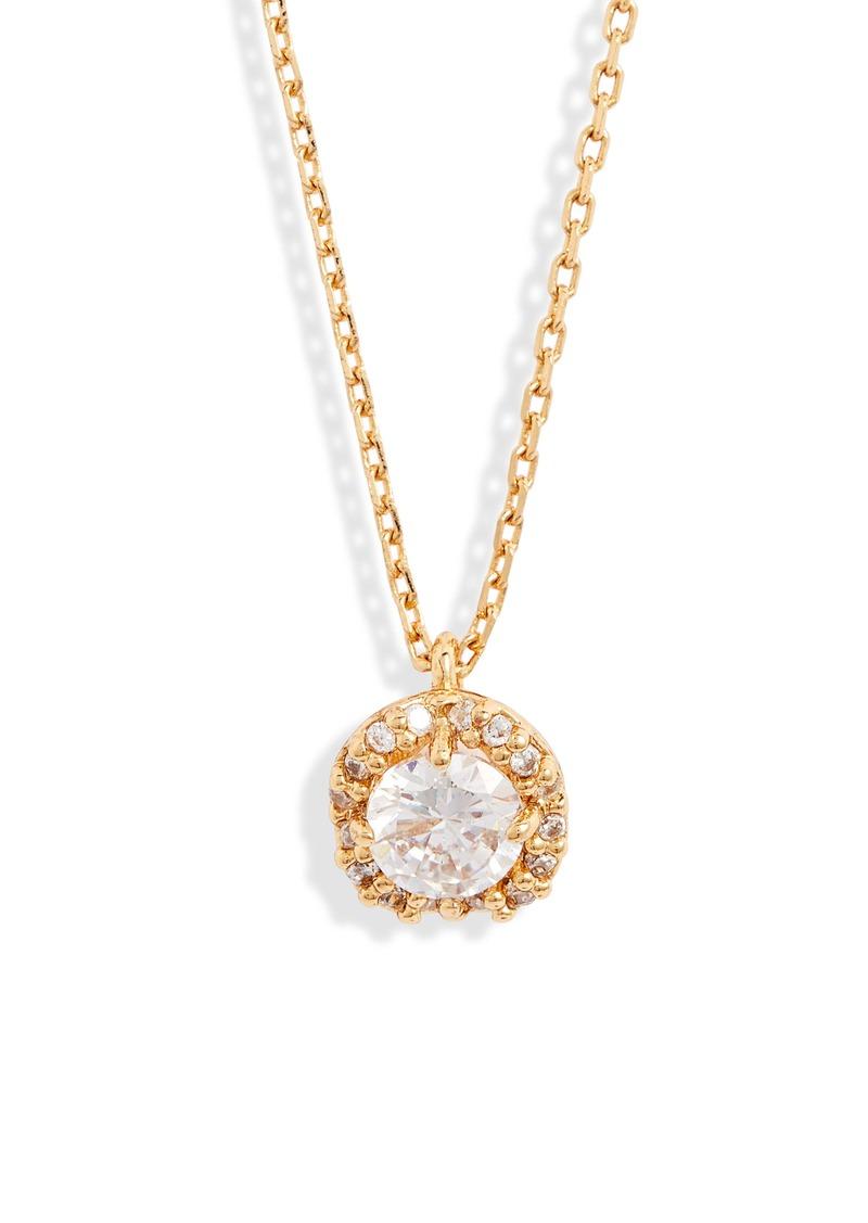 kate spade new york pavé round mini pendant necklace