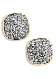 kate spade new york pavé small square stud earrings