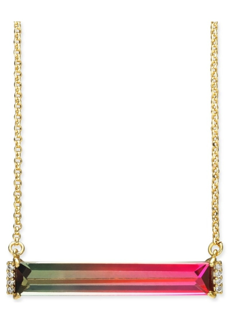 """Kate Spade New York Pave & Ombre Crystal Pendant Necklace, 17"""" + 3"""" extender"""