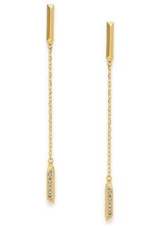 Kate Spade New York Pave Bar Linear Drop Earrings