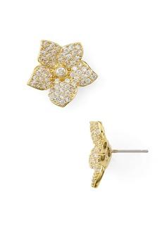 kate spade new york Pave Bloom Stud Earrings