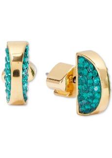 Kate Spade New York Pave Half-Circle Stud Earrings