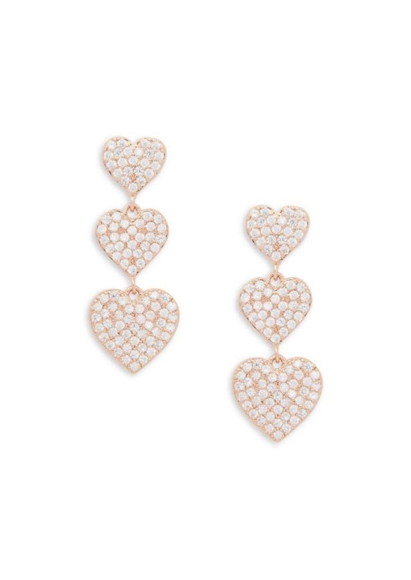 Kate Spade New York Pave Heart Triple Drop Earrings