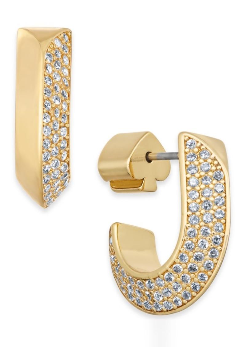 Kate Spade New York Pave Huggie Hoop Earrings