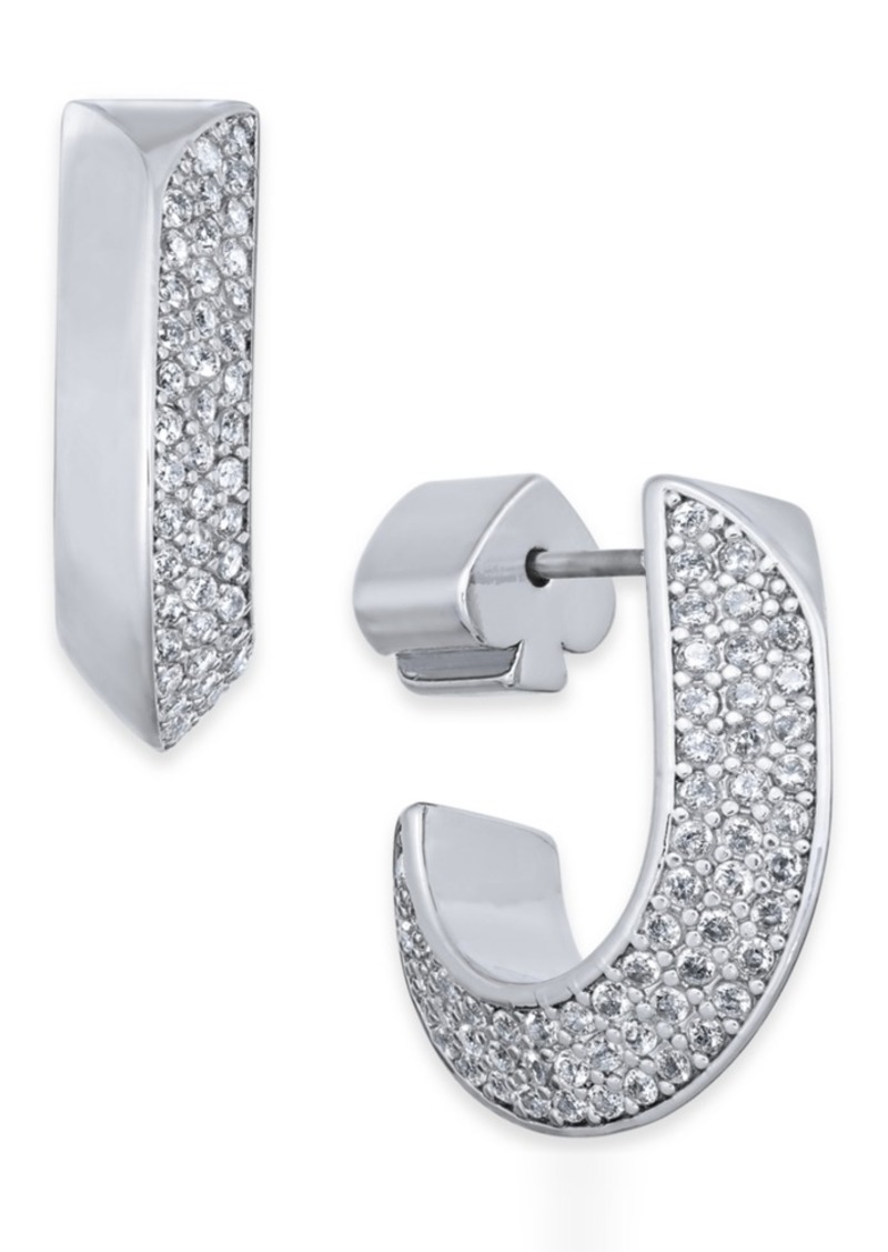 Kate Spade New York Pave Huggie Hoop Earrings