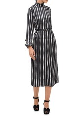 kate spade new york Pearl Drops Silk Midi Dress