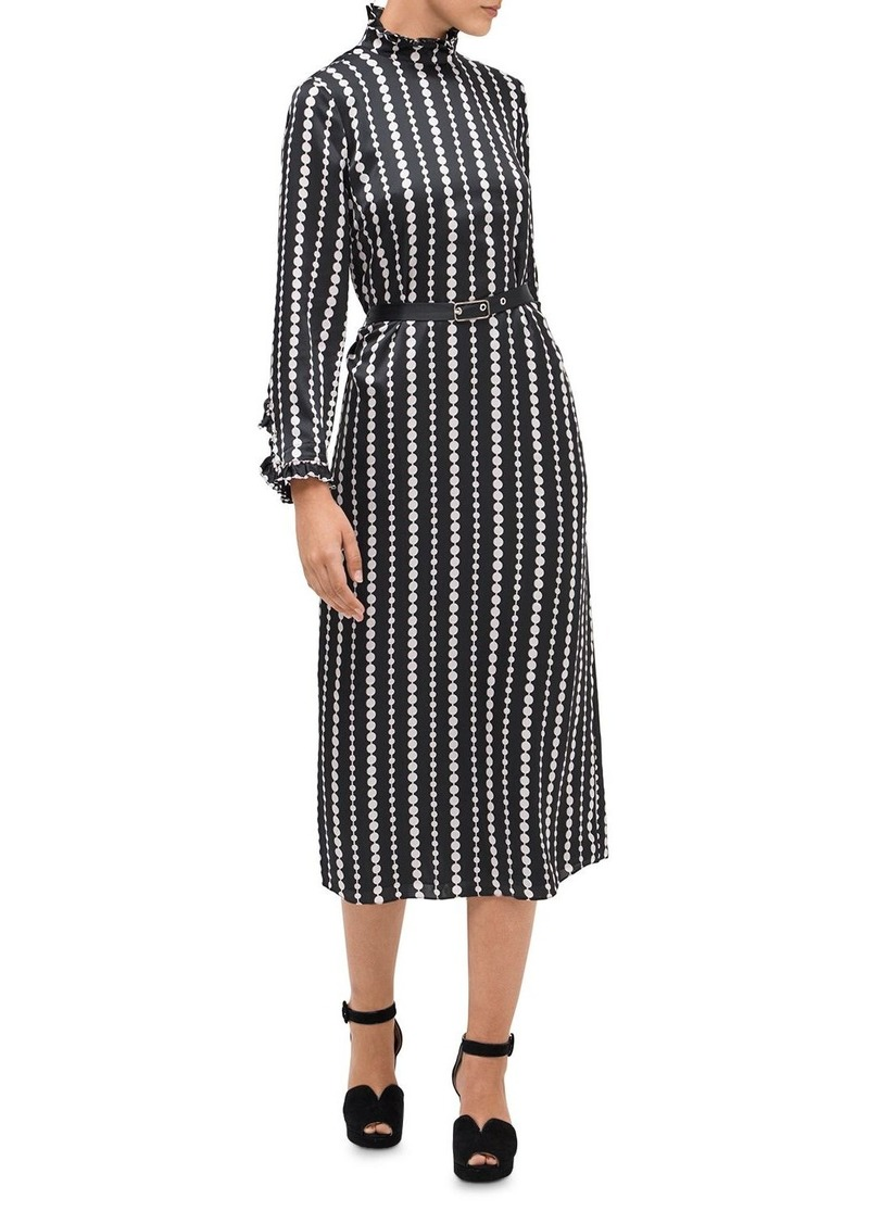 kate spade new york Pearl Drops Silk Midi Dress
